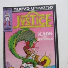Cómics: JUSTICE Nº 3 / NUEVO UNIVERSO FORUM MUCHOS EN VENTA MIRA TUS FALTAS ARX83. Lote 261838665