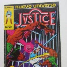 Cómics: JUSTICE Nº 2 NUEVO UNIVERSO FORUM MUCHOS EN VENTA MIRA TUS FALTAS ARX83. Lote 261838690