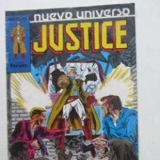 Cómics: JUSTICE Nº 12 NUEVO UNIVERSO FORUM MUCHOS EN VENTA MIRA TUS FALTAS ARX83. Lote 261838850