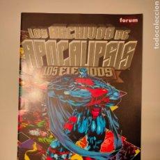 Cómics: LOS ARCHIVOS DE APOCALIPSIS - LOS ELEGIDOS - ESPECIAL X-MEN. Lote 261894170