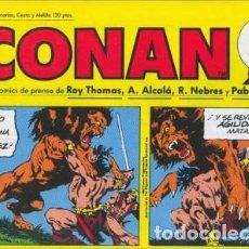 Cómics: CONAN-TIRAS DE PRENSA-PLANETA-Nº 11 -EL DEMONIO DE LA PLAGA-PABLO MARCOS-1989-BUENO-DIFÍCIL-LEA-4696. Lote 261985475