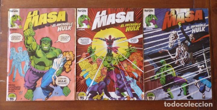 LA MASA EL INCREIBLE HULK Nº 8, 9 Y 10 RETAPADOS - FORUM 1984??? (Tebeos y Comics - Forum - Hulk)