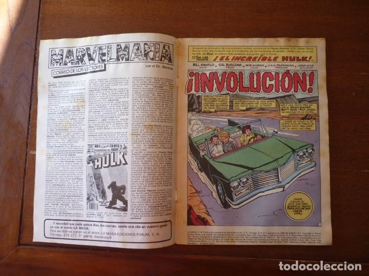 Cómics: LA MASA EL INCREIBLE HULK Nº 8, 9 Y 10 RETAPADOS - FORUM 1984??? - Foto 6 - 262192385
