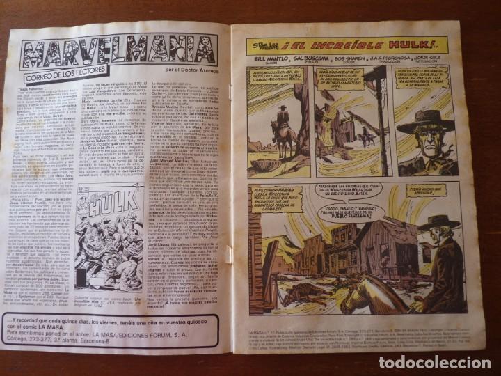Cómics: LA MASA EL INCREIBLE HULK Nº 8, 9 Y 10 RETAPADOS - FORUM 1984??? - Foto 9 - 262192385