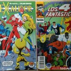 Cómics: 4 FANTÁSTICOS Nº 107 / EXCALIBUR Nº 42 - COMICS FORUM - MARVEL. Lote 262425680
