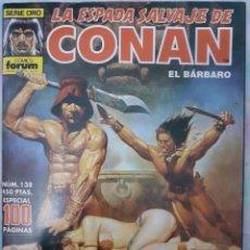 Cómics: LA ESPADA SALVAJE DE CONAN EL BARBARO - NÚM. 138 ESPECIAL 100 PÁGINAS. Lote 262638360