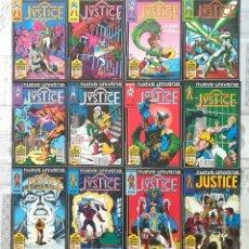 Cómics: JUSTICE. NUEVO UNIVERSO. C.COMPLETA DE 12 COMICS. COMICS FORUM 1988. Lote 262781385