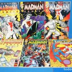 Cómics: LOTE 6 COMICS-MADMAN-MIKE ALLRED. COMPLETA. 5 NÚMEROS + ESPECIAL SUPERMAN/MADMAN. Lote 262877980