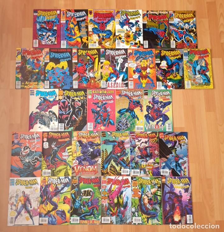 SPIDERMAN 2099 DE PETER DAVID V1 Y V2 + 2 ESPECIALES. COMPLETAS 30 COMICS. FORUM 1994 (Tebeos y Comics - Forum - Spiderman)