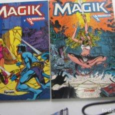 Cómics: MAGIK Y LA PATRULLA X - TOMOS 1 Y 2 COMPLETA - FORUM. Lote 263166055