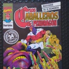 Cómics: DESCATALOGADO-FORUM-LOS CABALLEROS DE PENDRAGON Nº 1-1990-VFN-BOLSA & BACKBOARD. Lote 263181000