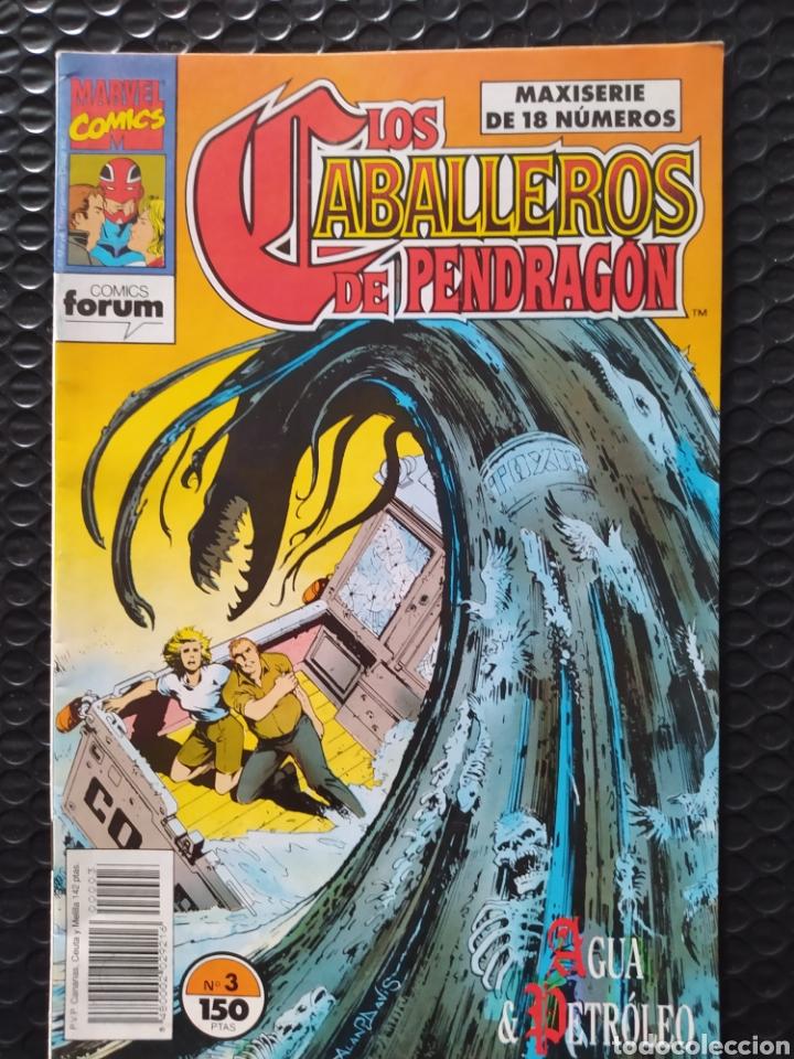 DESCATALOGADO-FORUM-LOS CABALLEROS DE PENDRAGON Nº 3-1990-VFN-BOLSA & BACKBOARD (Tebeos y Comics - Forum - Otros Forum)