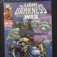 Cómics: DESCATALOGADO-FORUM/EPIC-THE LIGHT AND DARKNESS WAR #1-1991-VFN-BOLSA & BACKBOARD. Lote 263181300
