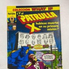 Comics : COLECCION WHAT IF? Nº 17.- ¿Y SI PATRULLA X HUBIESE MUERTO EN SU PRIMERA MISIÓN? COMICS FORUM. Lote 263295010
