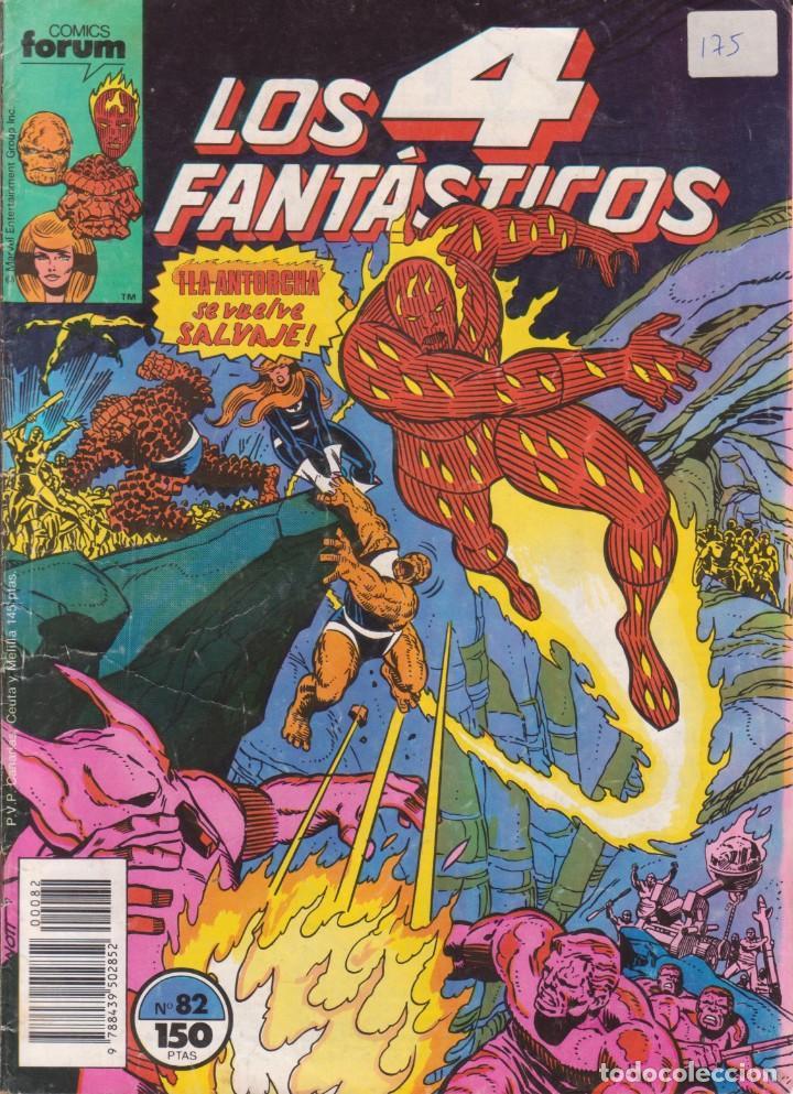"""CÓMIC MARVEL """" LOS 4 FANTÁSTICOS """" Nº 82 ED, PLANETA / FORUM.( 1989 ) LODELSCOMICS (Tebeos y Comics - Forum - Otros Forum)"""