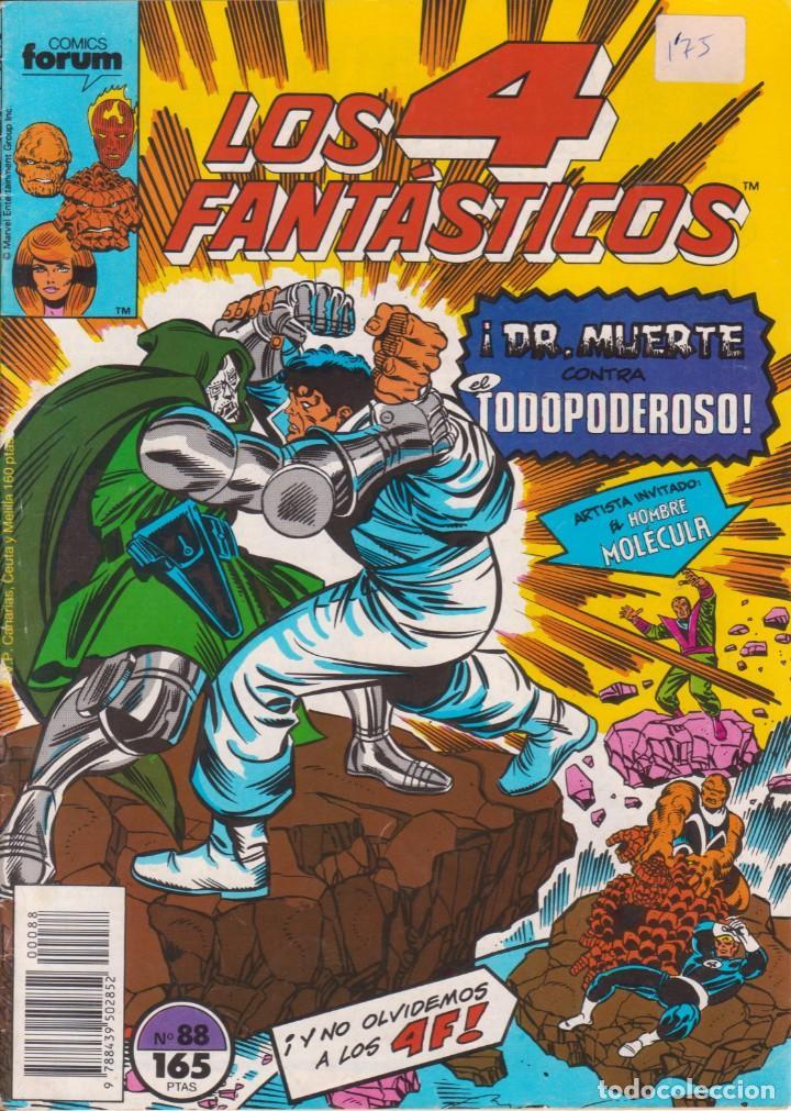 """CÓMIC MARVEL """" LOS 4 FANTÁSTICOS """" Nº 88 ED, PLANETA / FORUM.( 1989 ) LODELSCOMICS (Tebeos y Comics - Forum - Otros Forum)"""