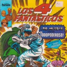 """Cómics: CÓMIC MARVEL """" LOS 4 FANTÁSTICOS """" Nº 88 ED, PLANETA / FORUM.( 1989 ) LODELSCOMICS. Lote 263580610"""