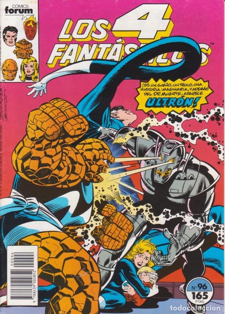 """CÓMIC MARVEL """" LOS 4 FANTÁSTICOS """" Nº 96 ED, PLANETA / FORUM.( 1989 ) LODELSCOMICS (Tebeos y Comics - Forum - Otros Forum)"""