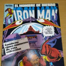 Cómics: IRON MAN RETAPADO NºS 21 22 23 24 25 FORUM VOLUMEN 1 MUY BUEN ESTADO. Lote 264282176