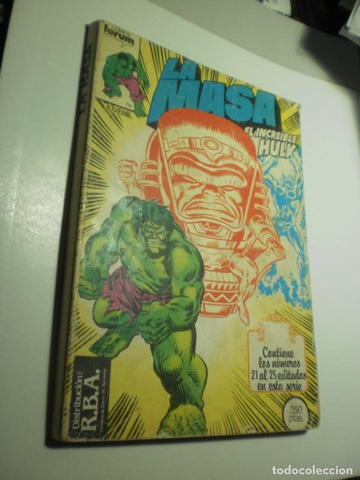LA MASA. EL INCREÍBLE HULK. RETAPADOS DEL 21, 22, 23, 24, 25. 1983 (BUEN ESTADO) (Tebeos y Comics - Forum - Hulk)