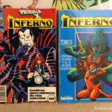 """Cómics: 2 TOMOS """" INFERNO"""" 5 NÚMEROS EN CADA TOMO (REF,86). Lote 265573859"""