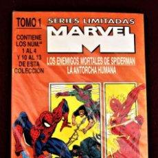 Cómics: SERIES LIMITADAS MARVEL TOMO 1 CON 8 NÚMEROS DE SPIDERMAN Y ANTORCHA HUMANA FORUM BIEN CONSERVADO. Lote 266310228