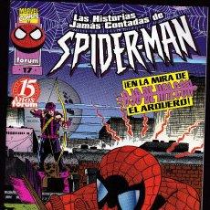 Cómics: LAS HISTORIAS JAMÁS CONTADAS DE SPIDER-MAN - VOL.1 - Nº 17 - CONTRA OJO DE HALCÓN - FORUM -. Lote 266586068