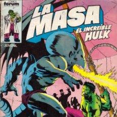Cómics: COMIC LA MASA, EL INCREIBLE HULK, Nº 29 - FORUM. Lote 266804404