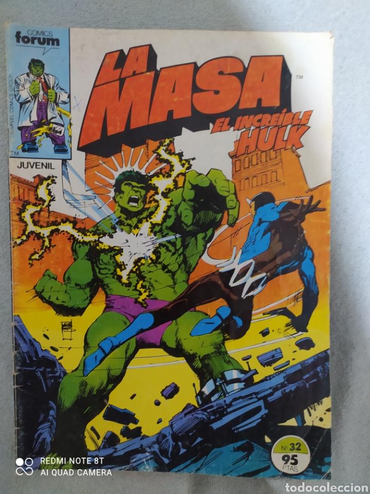 LA MASA. N°32.MARVEL- FORUM. 1984 A COLOR. COMIC EN EXCELENTE ESTADO DE CONSERVACIÓN. (Tebeos y Comics - Forum - Hulk)
