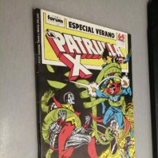 Comics : LA PATRULLA X ESPECIAL VERANO 1989 / MARVEL - FORUM. Lote 266845709