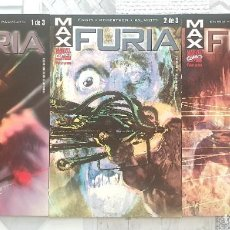 Cómics: MAX: FURIA DE GARTH ENNIS. SL DE 3 TOMOS. COMICS FORUM 2002. Lote 267503619