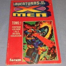 Cómics: TOMO 1 LAS AVENTURAS DE LOS X MEN CON 8 EJEMPLARES DEL Nº 1 AL Nº 8 COMICS FORUM. Lote 267713174