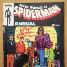 Cómics: PETER PARKER ES... SPIDERMAN ANNUAL: ESPECIAL PRIMAVERA (FORUM, 1987). PETER DAVID Y MARK BEACHUM.. Lote 268401979