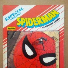 Cómics: SPIDERMAN EL HOMBRE ARAÑA: ESPECIAL VERANO (FORUM, 1988). POR ANN NOCENTI Y ARTHUR ADAMS.. Lote 268402074
