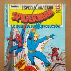 Cómics: SPIDERMAN: LA GUERRA DE LA EVOLUCIÓN / ESPECIAL INVIERNO (FORUM, 1988). TOM DEFALCO Y MARK BAGLEY.. Lote 268402159