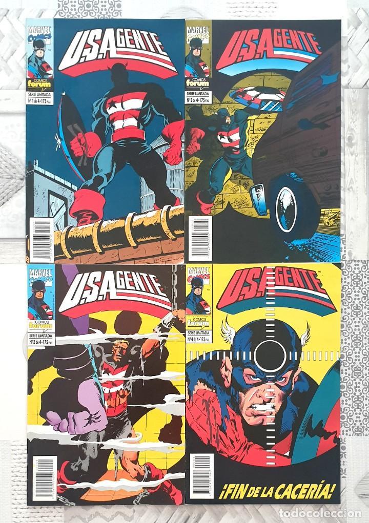 U.S.AGENTE DE MARK GRUENWALD. SERIE LIMITADA DE 4 COMICS. FORUM 1994 (Tebeos y Comics - Forum - Capitán América)