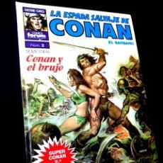 Cómics: CASI EXCELENTE ESTADO 2° SEGUNDA EDICION LA ESPADA SALVAJES DE CONAN 2 SUPER CONAN COMICS FORUM. Lote 268606884