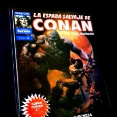 Cómics: MUY BUEN ESTADO 2° SEGUNDA EDICION LA ESPADA SALVAJES DE CONAN 6 SUPER CONAN COMICS FORUM. Lote 268607454
