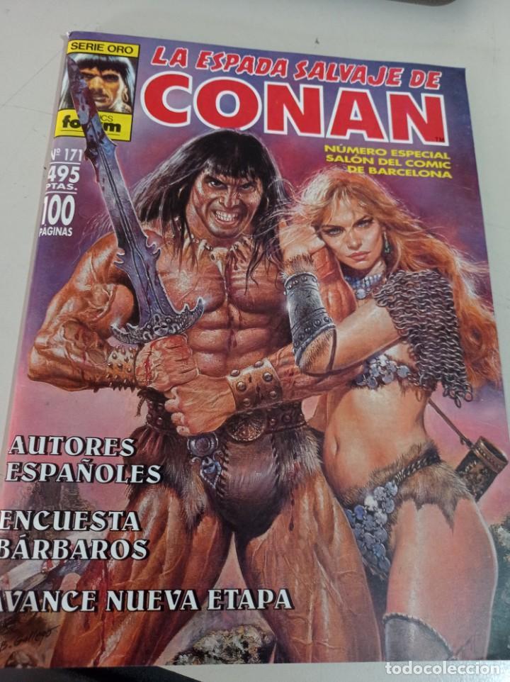 COMIC FORUM LA ESPADA SALVAJE DE CONAN Nº 171 1ª ED. SERIE ORO DIFICIL ULTIMO DE COLECCION!! UR MES (Tebeos y Comics - Forum - Conan)