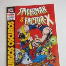Cómics: SPIDERMAN & FACTOR-X JUEGOS OSCUROS Nº 1 FORUM MUCHOS EN VENTA MIRA TUS FALTAS ARX37. Lote 268974669
