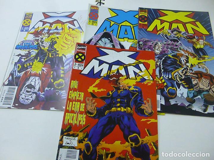 X-MAN - 4 NUMEROS - 1, 2 , 3 Y 4 . AQUÍ EMPIEZA LA ERA DE APOCALIPSIS (FORUM) MARVEL - N 9 (Tebeos y Comics - Forum - X-Men)