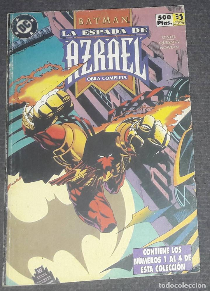 BATMAN LA ESPADA DE AZRAEL RETAPADO EDICIONES ZINCO COMPLETA CONTIENE 4 NUMEROS (Tebeos y Comics - Forum - Retapados)
