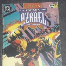 Cómics: BATMAN LA ESPADA DE AZRAEL RETAPADO EDICIONES ZINCO COMPLETA CONTIENE 4 NUMEROS. Lote 270003163