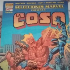 Cómics: SELECCIONES MARVEL: LA COSA Y RAYO NEGRO: FORUM. Lote 270190443