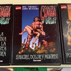Comics: CONAN Y BELLIT EDICIÓN FORUM COMPLETA 3 TOMOS. Lote 270377918