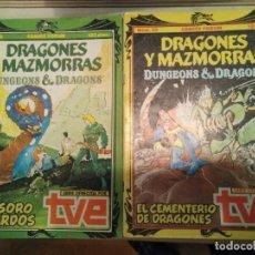 Cómics: DRAGONES Y MAZMORRAS 15 + 20 - TESORO DE LOS TARDOS + CEMENTERIO DE DRAGONES - COMIC ROL FORUM. Lote 270406238