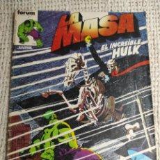 Cómics: LA MASA Nº 10 - EDITA : FORUM AÑOS 80 - 1ª EDICIÓN FORUM. Lote 270648898