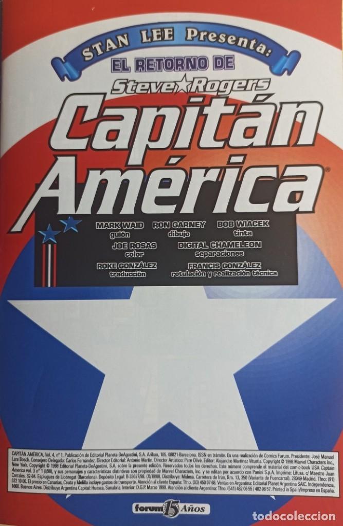 Cómics: CAPITAN AMERICA HEROES RETURN - COLECCIÓN COMPLETA 27 NUMEROS - EDICIONES FORUM - Foto 4 - 271987878