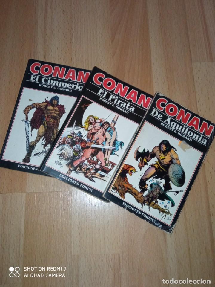 LOTE NOVELAS CONAN EDITORIAL FÓRUM (Tebeos y Comics - Forum - Conan)