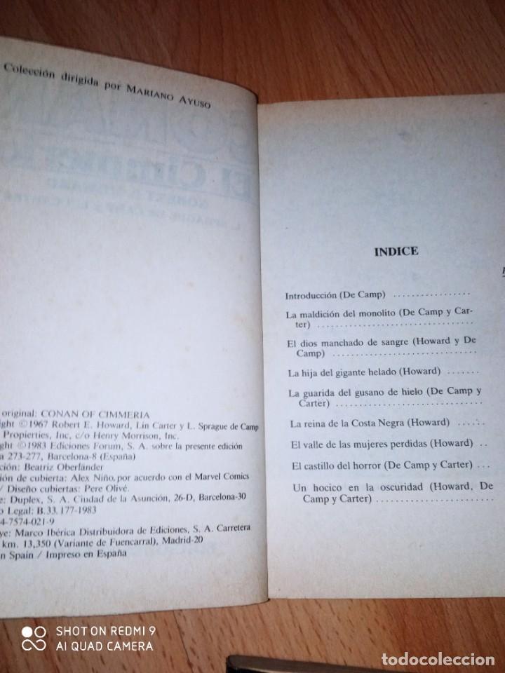 Cómics: Lote novelas Conan editorial Fórum - Foto 6 - 272078343